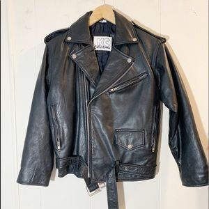 Jackets & Blazers - Vintage KC Collections 100% leather moto jacket